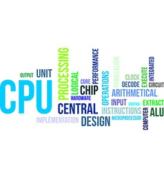word cloud cpu vector image