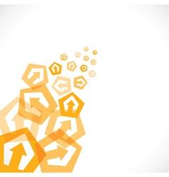 yellow arrow icon background vector image