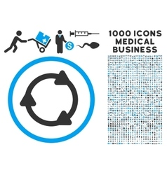 Rotate back icon with 1000 medical business vector