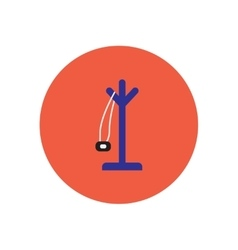 Stylish icon in circle floor coat hanger vector