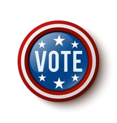 Vote button vector image