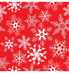 Red background with snowflakes illustration vector
