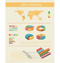 An infochart with a map vector