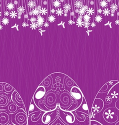 easter background with eggs ornament vector image