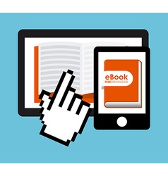 E-book technology vector