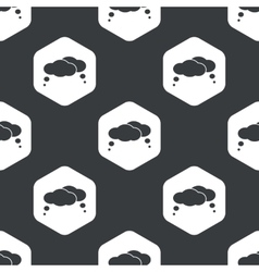 Black hexagon thoughts pattern vector