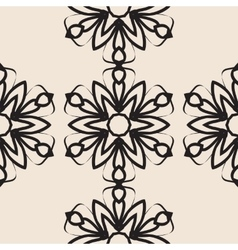 Stylized flower seamless elegant ornamental vector