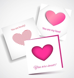 Card love pink vector