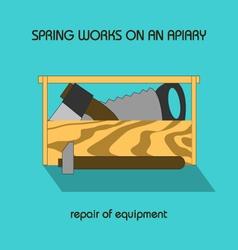 Repair equipment spring work vector