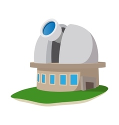 Observatory station cartoon icon vector