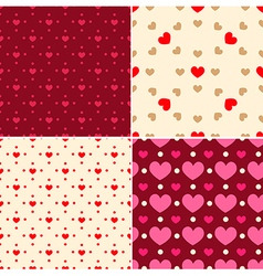 Seamless patterns for valentines day vector