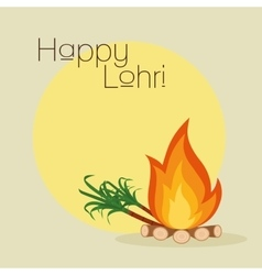 Happy lohri background vector