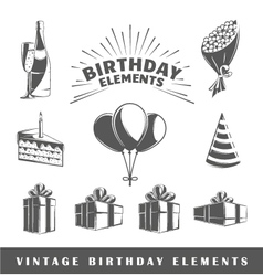 Set of elements of the birthday vector