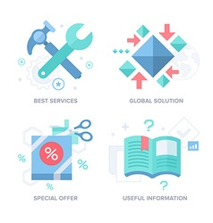 Business offer abstract features concepts vector