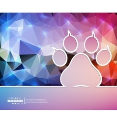 Creative animal footprint art vector