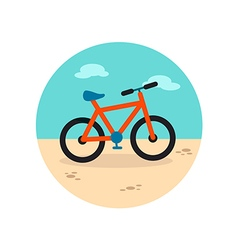 Bicycle icon summer vacation vector