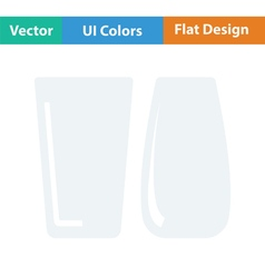 Two glasses icon vector