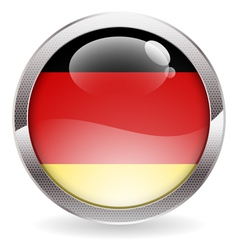 Gloss Button with German Flag vector image