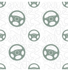 Car steering wheel seamless pattern vector