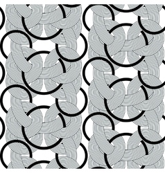 Rond lines geometry seamless pattern vector