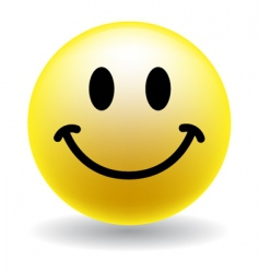 a happy smiley face button vector image