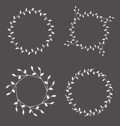 Branches wreaths sihouettes set2 vector