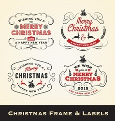 Christmas calligraphy frame and label template vector image