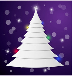 Christmas tree from pieces of paper lying on top vector