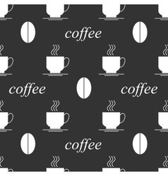 Coffee seamless background black and white vector