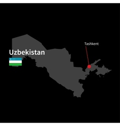 Detailed map of uzbekistan and capital city vector