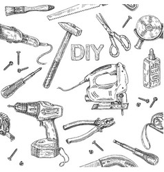 Diy tools pattern vector