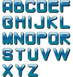 eps10 glossy alphabet blue tech vector image vector image