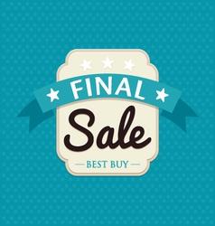 Final sale banner vector image vector image