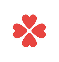 Flat design style concept of rotated four hearts vector