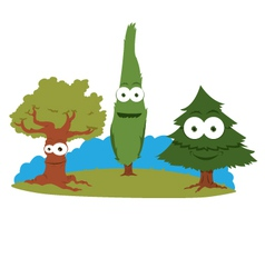 Funny trees vector