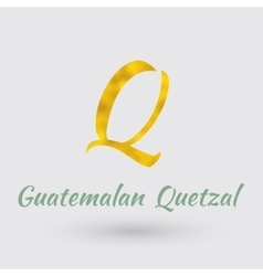 Golden symbol of the guatemalan quetzal vector
