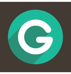 Letter G Logo Flat Icon Style vector image