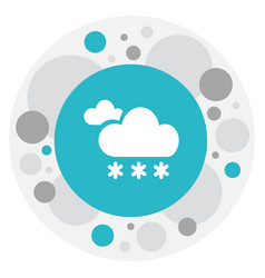 of climate symbol on frosty vector image