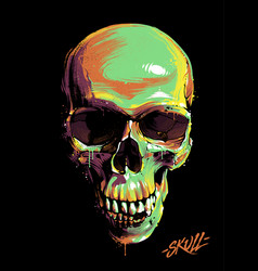 Paint graffiti skull vector