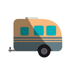 Pick up trailer vector
