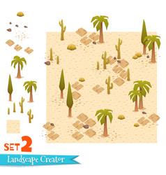 sandy landscape and palms set vector image