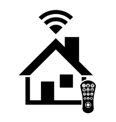 Smart house icon design vector image