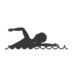 Swimming race isolated icon design vector