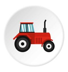 Tractor icon circle vector