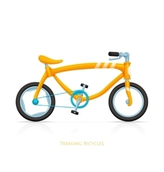 Trekking bicycles two vector