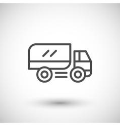 Truck line icon vector