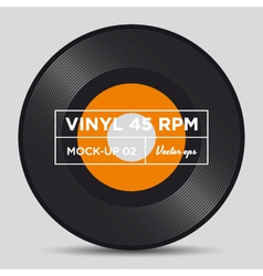 vinyl 45 rpm mockup 02 vector image