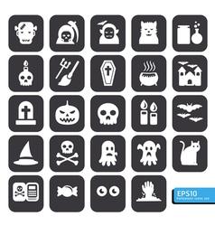 halloween icon black vector image