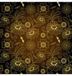 floral seamless vintage pattern vector image