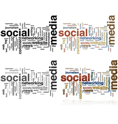 Social media word cloud vector